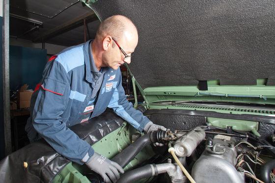 Einbau Motorvorwärmer