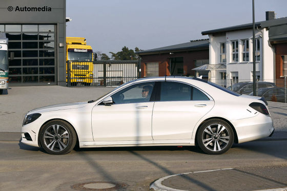 Mercedes-Benz S-Klasse Erlkönig W222 Erprobung