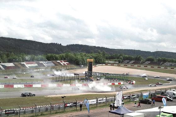 Donut-Drift-Wettbewerb auf dem Nürburgring