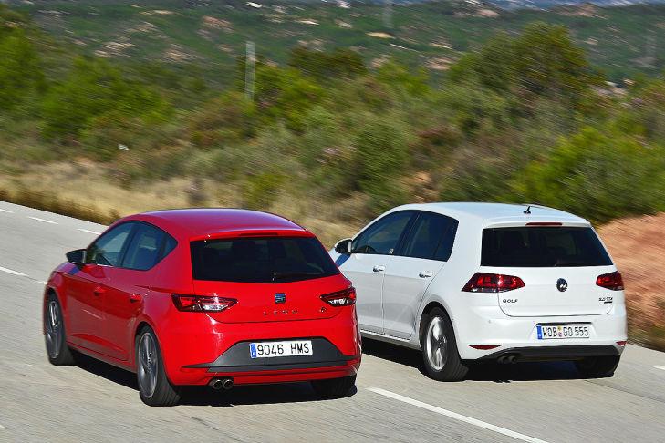 Vergleich: Seat Leon gegen VW Golf - Bilder - autobild.de