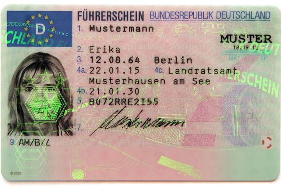 EU-Führerschein nur 15 Jahre gültig
