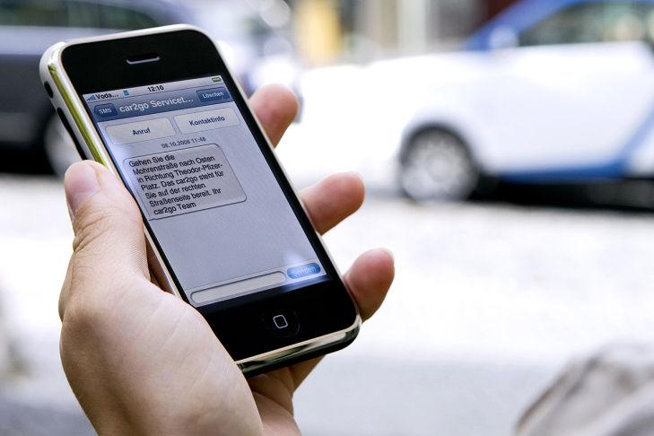 Smartphone-App für Car2go