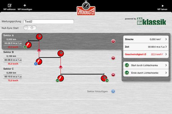 ChronoMaster-App für iPad