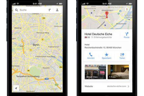 Google: Kartendienst für iPad und iPhone