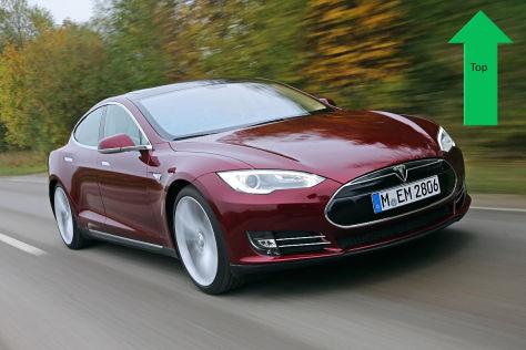 Top: Tesla Model S