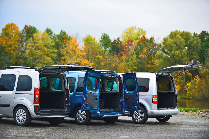 Mercedes Citan vs. Renault Kangoo und VW Caddy
