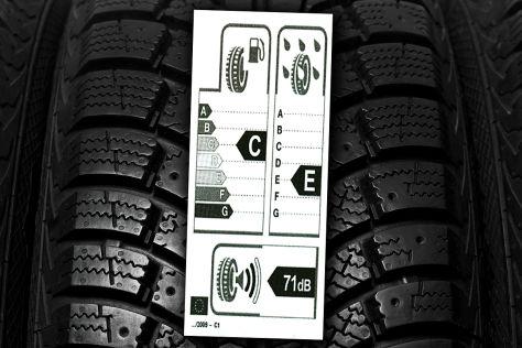 Gefälschtes Reifenlabel aus China