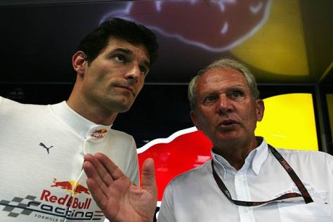 Red Bulls Motorsportkonsulent Helmut Marko nimmt sich Mark Webber zur Brust