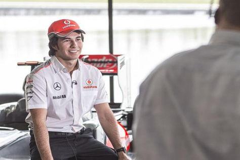 Lausbub' mit Ambitionen: Sergio Perez hat bei McLaren Großes vor