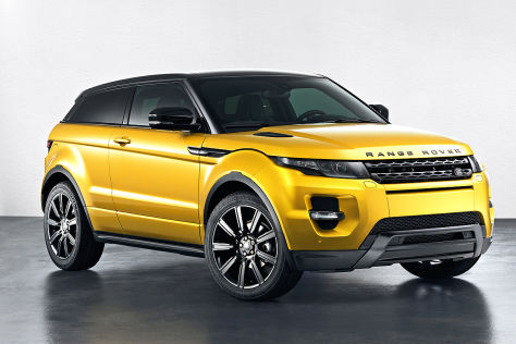 Range Rover Evoque Yellow Edition