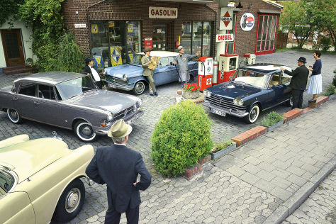 Borgward P100 Fiat 2100 Special Mercedes 220 b Opel Kapit&auml;n P 2.6