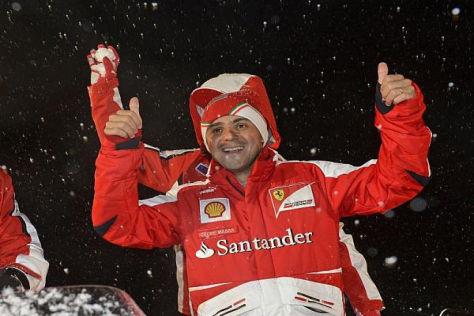Brasilianer im Schnee: Felipe Massa kann trotz Frostbeulen wieder lachen
