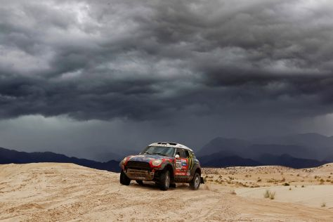 Boris Garafulic im Mini All4 Racing auf der 11. Etappe der Rallye Dakar 2013