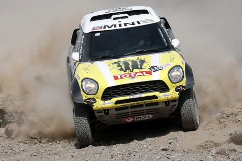 Nani Roma im Mini All4 Racing auf der 12. Etappe der Rallye Dakar 2013