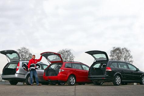 Ford Mondeo Turnier, Mazda6 Sport Kombi, Opel Vectra Caravan