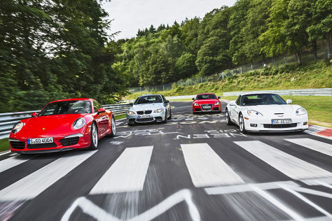 911 Carrera S/Corvette GS/TT RS plus/M3 Coupé: Test
