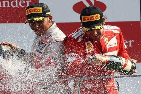 Früher erbitterte Rivalen, heute respektvolle Gegner: Hamilton und Alonso