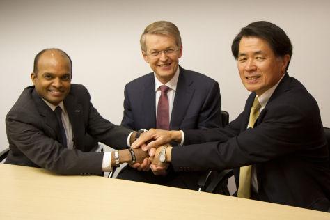 Raj Nair (Ford), Thomas Weber (Daimler) und Mitsuhiko Yamashita (Nissan)