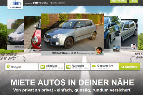 Screenshot Homepage autonetzer.de