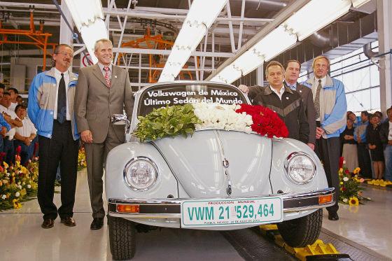 Der letzte VW Käfer läuft vom Band 2003