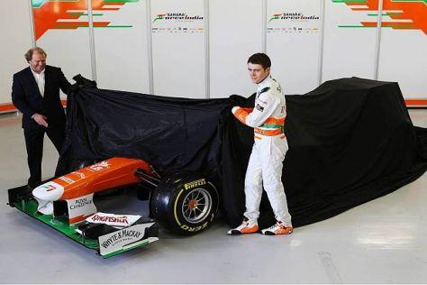 Paul di Resta war bei der Vorstellung des neuen VJM06 einziger Fahrer vor Ort