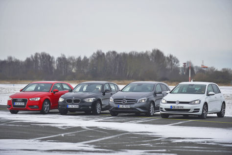 udi A3 BMW 1er Mercedes A-Klasse VW Golf
