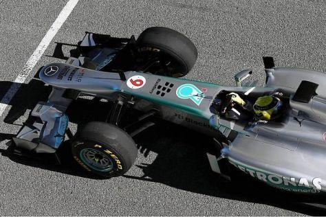 Erst am Nachmittag wird der neue Mercedes W04 offiziell in Jerez vorgstellt