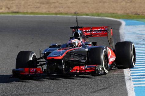 Jenson Button fuhr gestern eine beeindruckende Bestzeit in Jerez