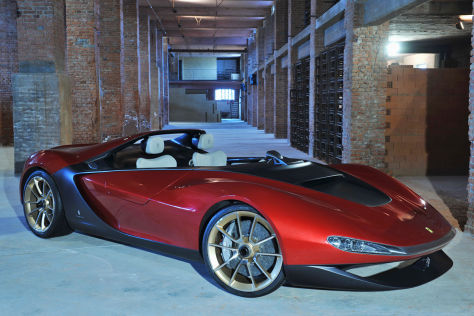 Ausschnitt Pininfarina-Studie Sergio 2013