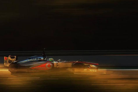 Sergio Perez durfte in Jerez erstmals im McLaren MP4-28 Platz nehmen