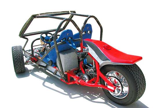 Das Elektro-Trike als Bausatz von Tüftler Gary Krysztopik