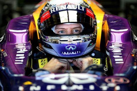 Sebastian Vettel fühlt sich in seinem neuen Dienstwagen schon wie zu Hause