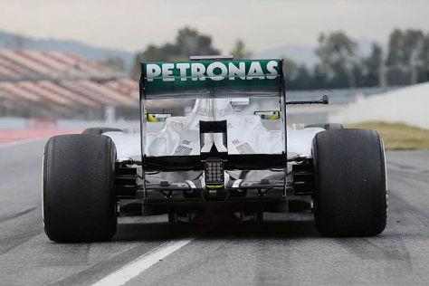 Bei Nico Rosberg rückte am Morgen der Heckflügel in den Fokus der Aufmerksamkeit