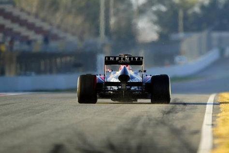 Sebastian Vettel zeigte der Konkurrenz am Vormittag das Heck des Red Bull RB9