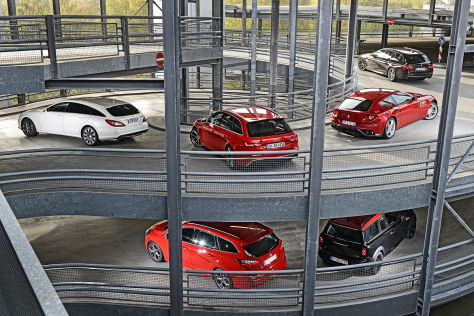 Mini Clubman JCW BMW M550d Touring Ferrari FF Mercedes CLS 500 Audi RS4 Avant Ford Focus ST Turnier