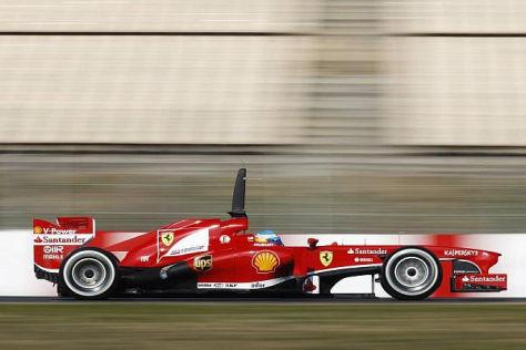Fernando Alonso und sein Ferrari F138 waren nicht immer so zügig unterwegs