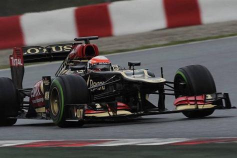 Romain Grosjean fuhr nicht viel. Aber wenn, dann richtig fix um den Kurs