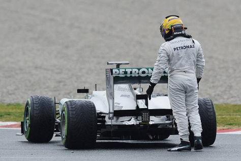 Lewis Hamilton ließ den Kopf hängen: Freudensprungen sehen anders aus