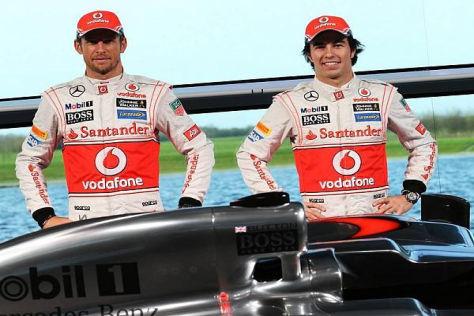 Jenson Button und Sergio Perez gehen zuversichtlich in die neue Formel-1-Saison