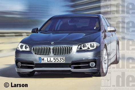 BMW 5er Facelift (Illustration)