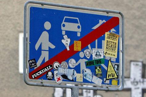 Vandalismus an Verkehrsschildern
