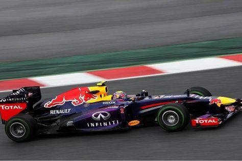 Mark Webber am Donnerstag in Barcelona: Auf allen Reifen schnell
