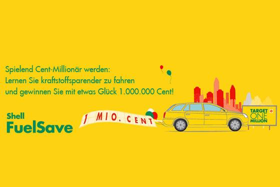 Mit Shell FuelSave zum Cent Millionär