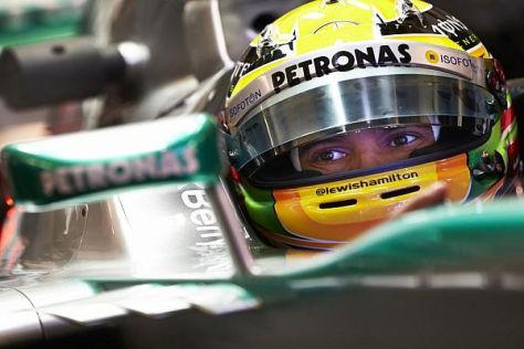 Lewis Hamilton kann die Eindrücke im Cockpit nur schwierig in Worte fassen