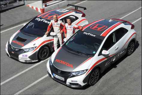 Honda Civic mit Tourenwagen-WM-Dekor