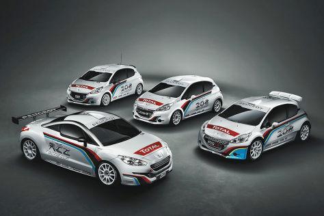 Peugeot 208: drei Rennversionen
