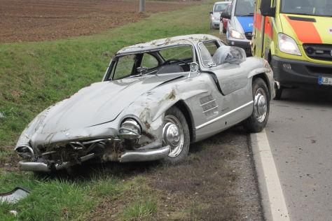 Mercedes 300 SL Flügeltürer nach Crash