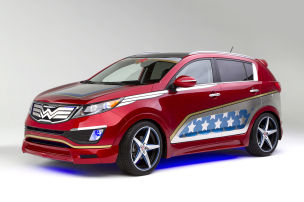 Kia Sportage Wonder Woman: New York 2013