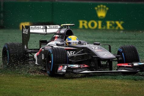 Esteban Gutierrez bezahlte in seinem ersten Formel-1-Qualifying Lehrgeld