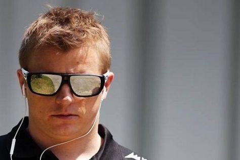 Kimi Räikkönen rechnet sich im Trockenen größere Chancen aus